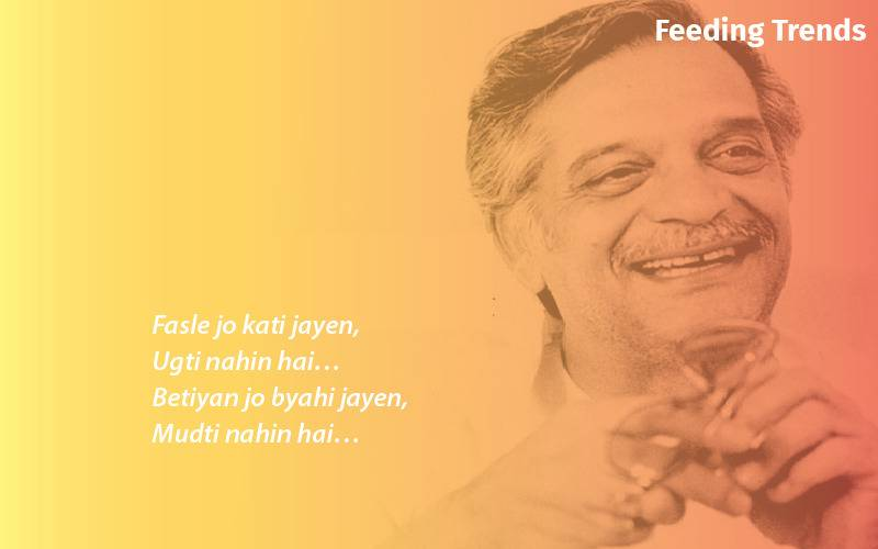 dilbaro song lyrics, gulzar songs, dilbaro lyrics, gulzar poetry, gulzar, gulzar birthday, feeding trends
