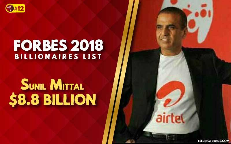 Sunil Mittal,business, India, richest people in India, richest Indians, richest man in India, wealthiest Indians, Forbes richest Indians, 100 richest Indians, billionaires in India, Indian billionaires, wealthiest people in India