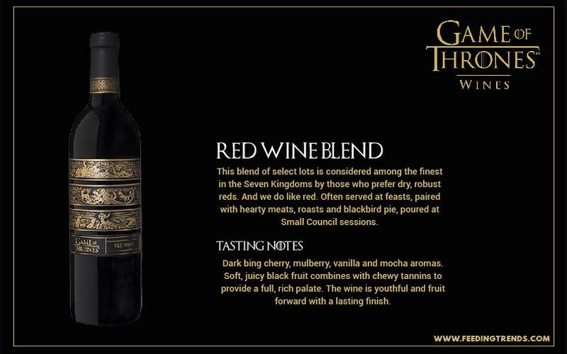 Red Wine Blend ,Entertainment, Lifestyle, tv series, youth, game of thrones, GOT theme wines, GOT theme song, Got dialogues, GOT beer, feeding trends
