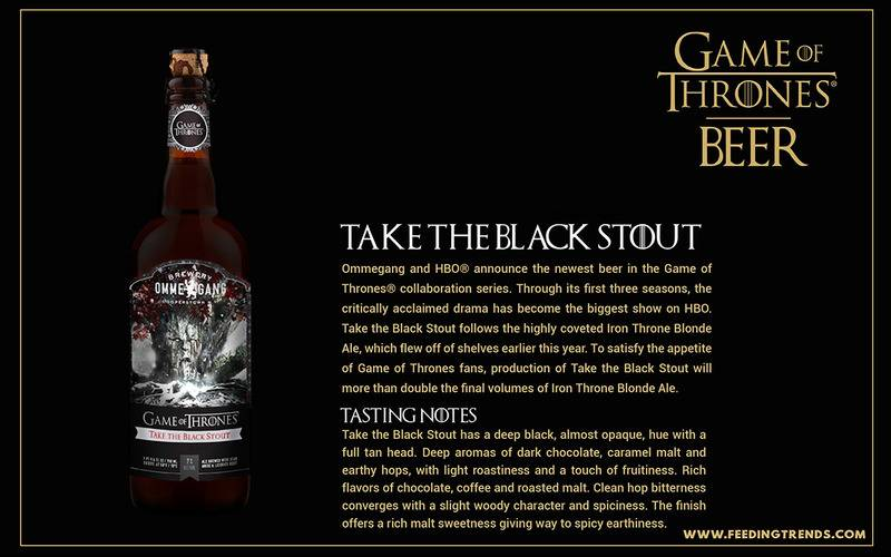 Take The Black Stout ,Entertainment, Lifestyle, tv series, youth, game of thrones, GOT theme wines, GOT theme song, Got dialogues, GOT beer, feeding trends