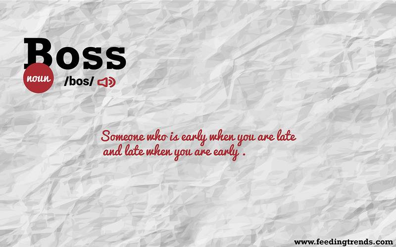 Boss,Abstract, humour, just for fun, English, literature, language, new dictionary, new word meanings, list of new English words, youthful word meanings, word meaning app, word meaning list