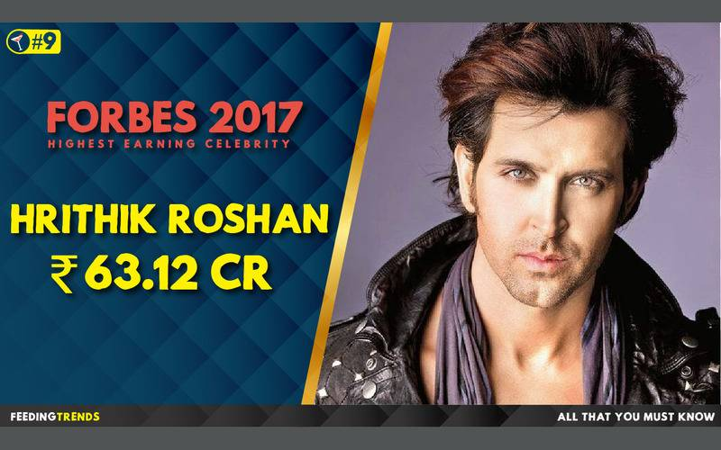 Hrithik Roshan  ,Forbes, Forbes 2017, Forbes List 2017, India, Bollywood, Celebrities, Celebs, Entertainment, Bollywood entertainers, Income of Cricketers