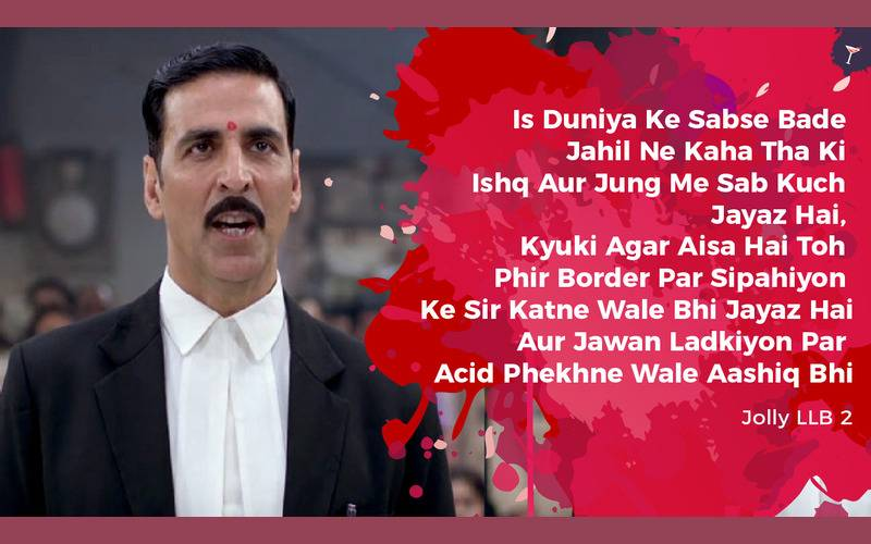 Jolly LLB 2,Bollywood, Entertainment, Best Dialogues, Best dialogues in films, Best dialogues in 2017, Best dialogues in movies, Top dialogues in movies, Movies 2017, Memorable dialogues