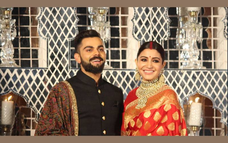 Celebrations, Parties, Wedding,Cricket, Sports, Bollywood,Entertainment, Virushka wedding,Virat and Anushka get married, ViratAnusha marriage, secret wedding ofVirat Anushka, cricket meets films,cricket meets Bollywood, Virushkareception