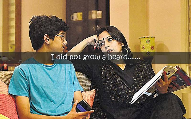 grew the beard,lifestyle, childhood memories, cute memories of childhood, what all we cherished as a kid, being a mom, motherhood, Indian, India, family, society, living, Indian family, what Indian moms are like