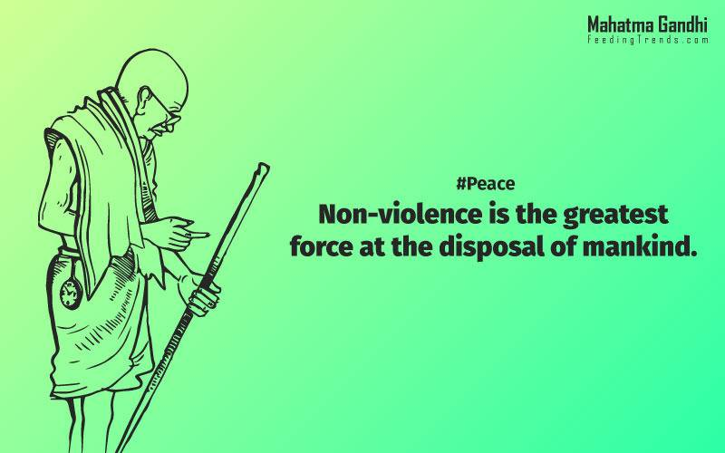 Non-violence is the greatest force at the disposal of mankind., It is better in prayers to have a heart without words than a world without a heart., Forgiveness is the attitude of strong., The weak can never forgive. Forgiveness is the attribute of the strong., True education must correspond to the surrounding circumstances or it is not a healthy growth., A man is but the product of his thoughts, what he thinks, he becomes., What is really needed to make democracy function is not knowledge of facts, but right education., Literacy in itself is no education. Literacy is not the end of education or even the beginning. By education, I mean an all-round drawing out of the best in the child and man-body, mind and spirit., To believe in something, and not to live it, is dishonest., Find a purpose. The means will follow., There are two days in the year that we can not do anything, yesterday and tomorrow., Live as if you were to die tomorrow. Learn as if you were to live forever.,The future depends on what we do in the present., Love is the strongest force the world possesses and yet it is the humblest imaginable. , The real love is to love them that hate you, to love your neighbour even though you distrust him.,Your action expresses your priorities.,The law of love could be best understood and learned through little children., Relationships are based on four principles: respect, understanding, acceptance, and appreciation, mahatma gandhi,Hollywood, Bollywood, gandhi jayanti, 2nd october, country, independence, india, patriotism, goals, life, faith, my experiments with truth, feeding trend, feeding, trends, mahatma Gandhi quotes, quotes by Gandhi, quotes by mahatma Gandhi,Gandhi hi quotes, Indian quotes, mahatma Gandhi quotes on love, mahatma Gandhi quotes on education, mahatma Gandhi quotes on life