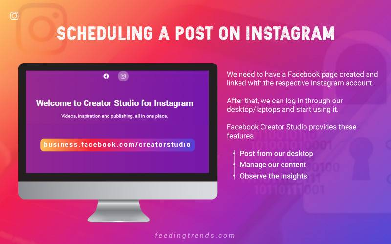 Instagram, Schedule a post on Instagram, give a line break in Instagram captions, insta users, insta sticker, insta gif, insta influencers, Instagram Reels, Instagram IGTV, Instagram Feed, Feeding Trends, FT insta, Insta post schedule