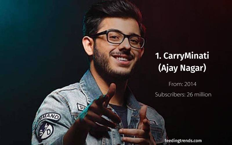 indian youtubers, indian top youtubers, carryminati, list of indian youtubers, youtube channel, youtube, top youtubers